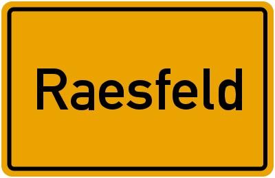 ortsschild raesfeld