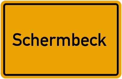ortsschild schermbeck